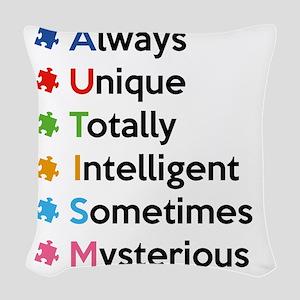 autismMyst1A Woven Throw Pillow