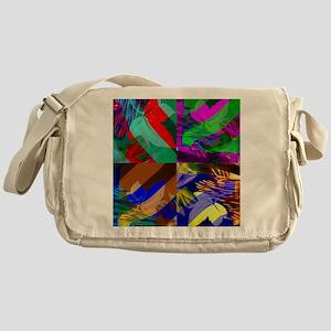 Abstract Collage Messenger Bag