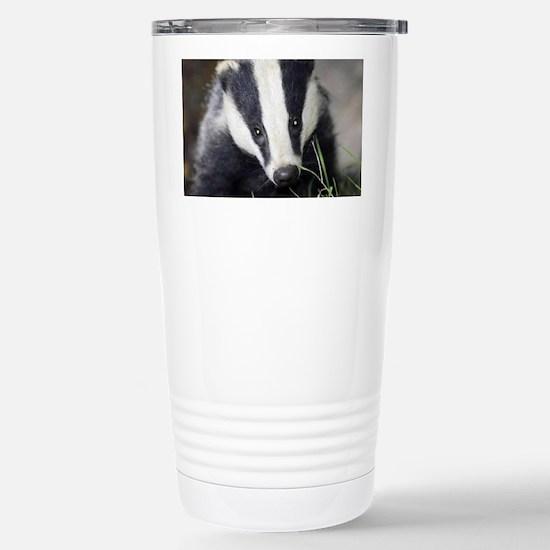 Cute Badger Stainless Steel Travel Mug