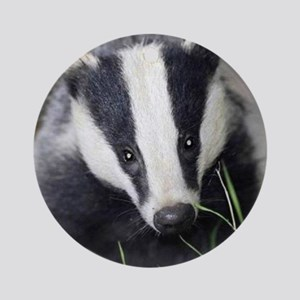 Cute Badger Round Ornament