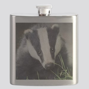 Cute Badger Flask