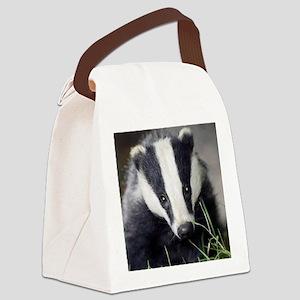 Cute Badger Canvas Lunch Bag