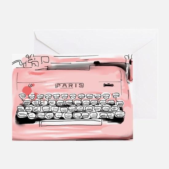 Paris Typewriter  Greeting Card