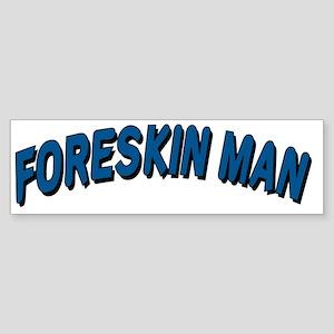 Foreskin Man Logo (Transparent) Sticker (Bumper)