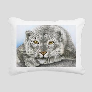 Snow Leopard Wall Decal Rectangular Canvas Pillow