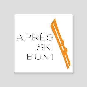 """Après Ski Bum Square Sticker 3"""" x 3"""""""