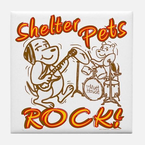 Shelter Pets Rock Tile Coaster
