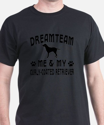 Curly Coated Retriever Dog Designs T-Shirt