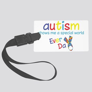 Autism Large Luggage Tag