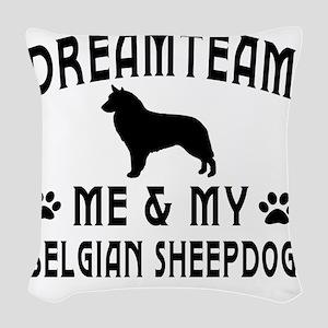 Belgian Sheepdog Dog Designs Woven Throw Pillow
