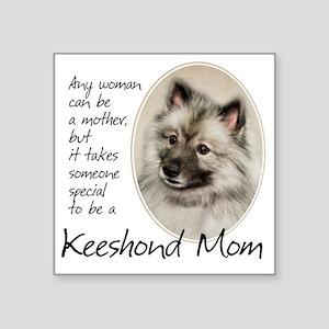 "Keeshond Mom Square Sticker 3"" x 3"""