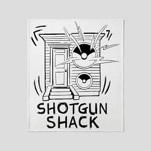 Shotgun Shack Band Logo (white) Throw Blanket