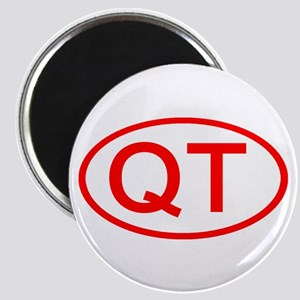 QT Oval (Red) Magnet