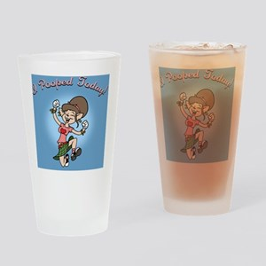 i-poop-fem-PLLO Drinking Glass