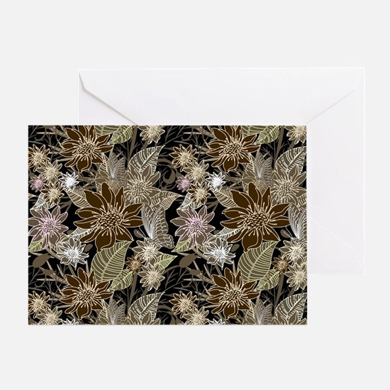 Flowers, Ferns and Butterflies Greeting Card