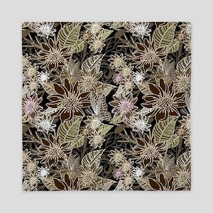 Flowers, Ferns and Butterflies Queen Duvet