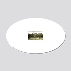 The Train Stop 20x12 Oval Wall Decal