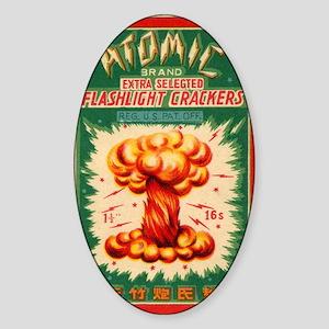 Atomic Bran Chinese Firecracker Lab Sticker (Oval)
