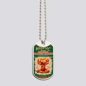 Atomic Bran Chinese Firecracker Label Dog Tags