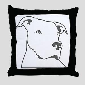 logo head Throw Pillow