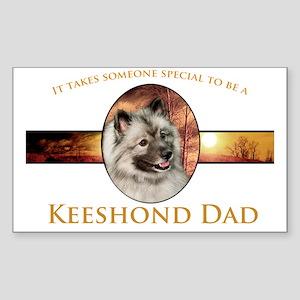 Keeshond Dad Sticker (Rectangle)