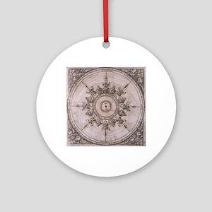 Antique Wind Rose Compass Design Round Ornament