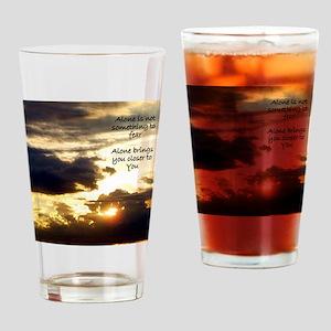 Alone Sunrise Drinking Glass