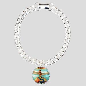 Vintage Mermaid Carnival Charm Bracelet, One Charm