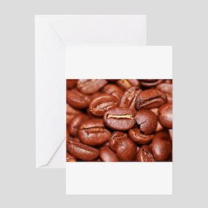 coffee bean Greeting Cards
