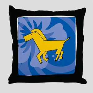 Horse Shower Curtain Throw Pillow