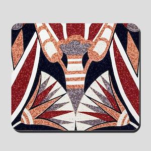 Art Deco Geometric Floral Mousepad