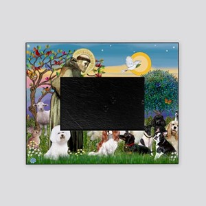 Saint Francis  10 dogs Picture Frame
