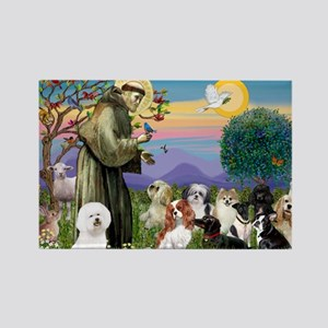 Saint Francis  10 dogs Rectangle Magnet