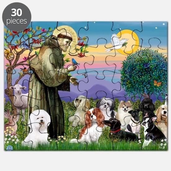 Saint Francis  10 dogs Puzzle