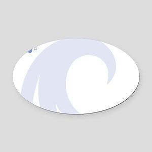 Horse Magnetic Dry Erase Board Oval Car Magnet