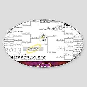 Lent Madness 2013 Bracket Sticker (Oval)