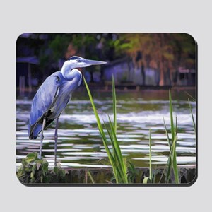 Blue Heron Sketch Mousepad