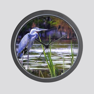 Blue Heron Sketch Wall Clock