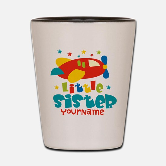 Little Sister Plane - Personalized Shot Glass