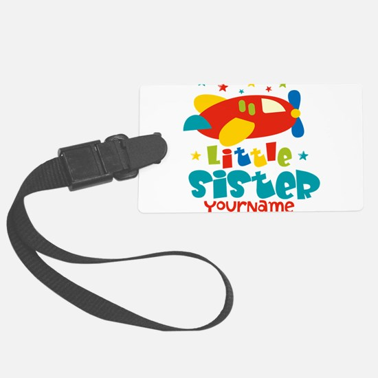 Little Sister Plane - Personalized Luggage Tag