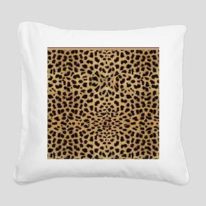 Cheetah Animal Print copy Square Canvas Pillow