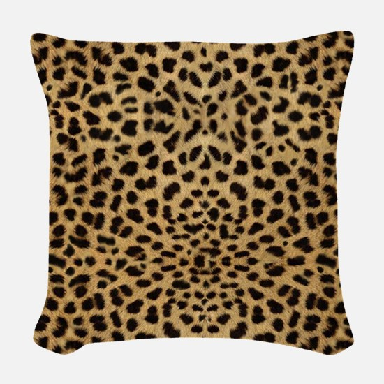 Cheetah Animal Print copy Woven Throw Pillow