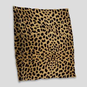 Cheetah Animal Print copy Burlap Throw Pillow