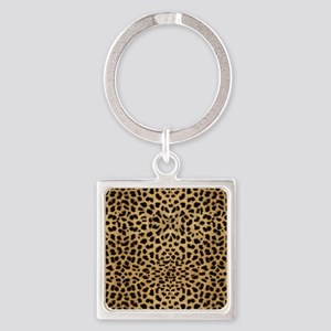 Cheetah Animal Print copy Square Keychain