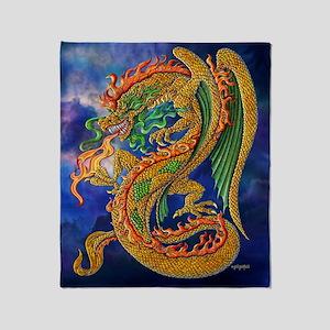 Golden Dragon 11x17 Throw Blanket