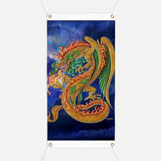 Golden Dragon 11x17 Banner