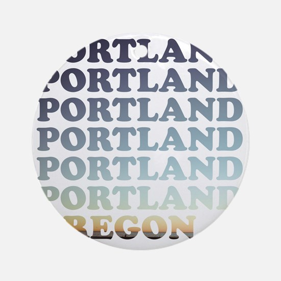 portland, oregon Round Ornament