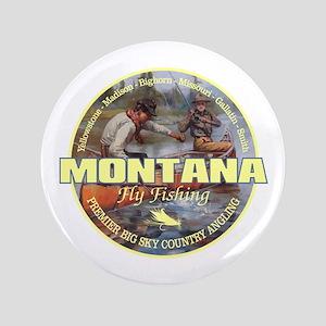 "Montana Fly Fishing 3.5"" Button"