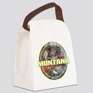 Montana Fly Fishing Canvas Lunch Bag