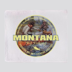 Montana Fly Fishing Throw Blanket
